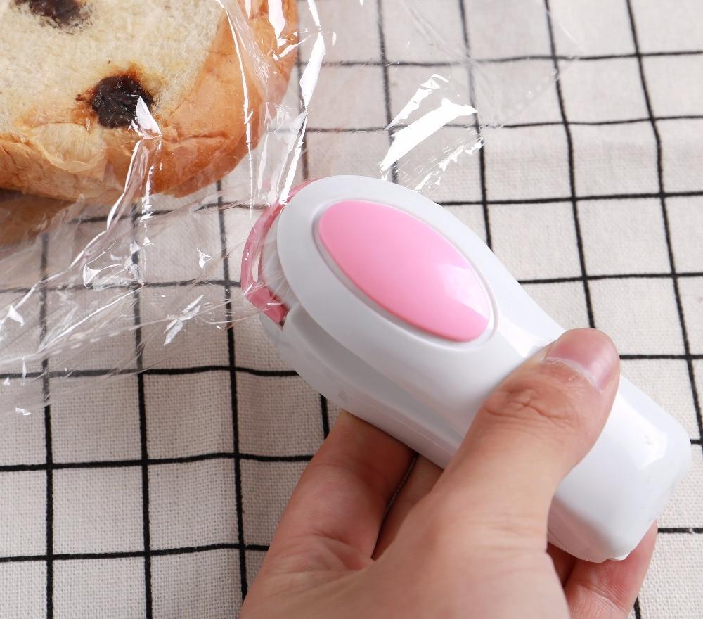 Nuevo sellador de alimentos al vacío para el hogar Mini bolsa de la máquina de sellado térmico portátil máquina selladora bolsa de plástico de tubo de politereftalato aparatos de cocina