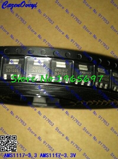 100 unids/lote Original AMS1117-3.3 AMS1117-3.3V AMS1117 LM1117 1117 regulador de voltaje solo proporcionamos buena calidad en Stock