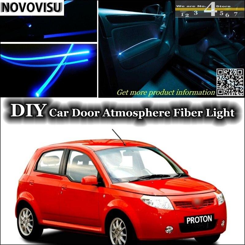 NOVOVISU para la iluminación interior del Panel de la puerta interior de la correa de fibra óptica de la atmósfera de la luz ambiental