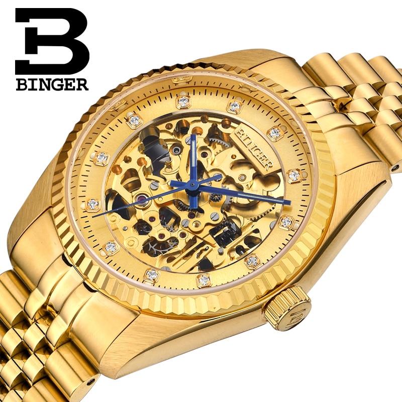 Skeleton Sapphire Switzerland автоматические механические мужские часы водонепроницаемые наручные часы MIYOTA Movement Reloj Hombre B1106-3