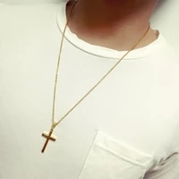 cross pendant necklace mens stainless steel crucifix jewelry womens necklace fashion hzp159