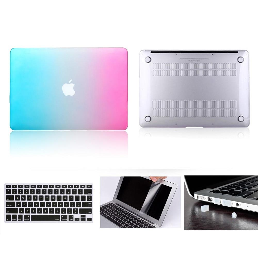 Für MacBook 11 Harte Fall, für Air 11 Pro Reitna Touchbar 11 12 13 15 Harte Fall Abdeckung + Tastatur Abdeckung + Screen protector + staub Stecker