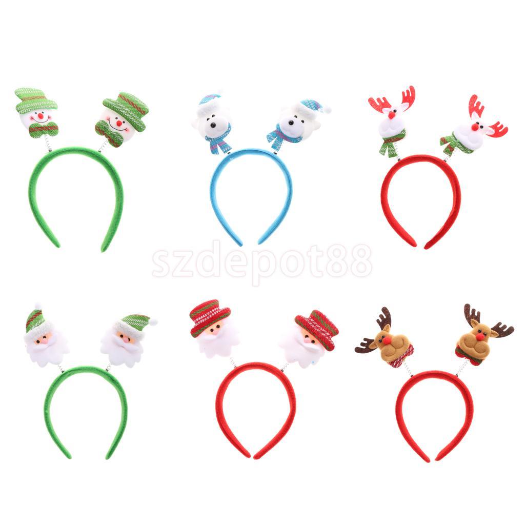 6x Santa Claus Dear Christmas Hair Bands Headband Holiday Party Decorations