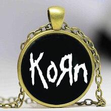 Collier Photo bijoux Korn collier pendentif dôme en verre