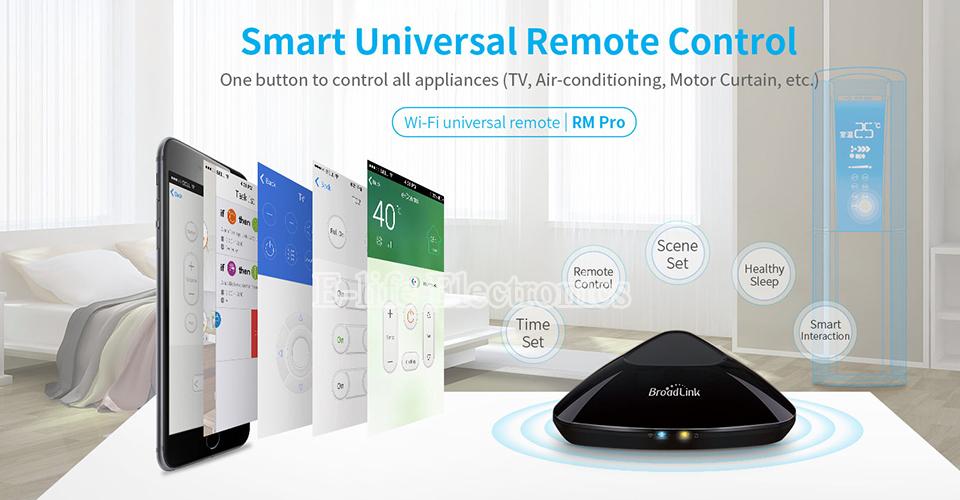 2017 Broadlink RM03 RM PRO Uniwersalny Inteligentny Pilot Smart Home Automation WiFi + IR + RF Przełącznik Poprzez IOS Android Telefon 7