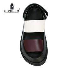 Mode été en cuir véritable hommes sandales Rome gladiateur mâle décontracté plate-forme sandale chaussures de haute qualité