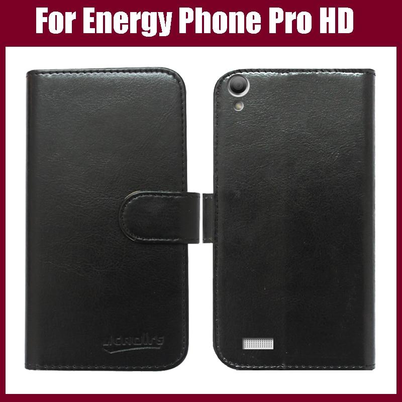 Funda de teléfono plegable de piel de lujo para ENERGY SISTEM Energy Phone Pro HD Cartera de funda protectora estilo 6 colores en Stock