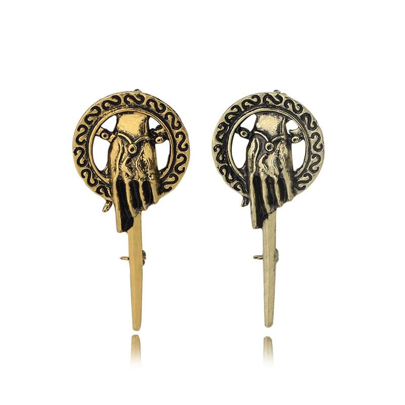 Fooderwerk joyería de hielo y fuego canción Power juego rey cetro mano hombres mujeres broche insignia conmemorativa accesorios de ropa Pins
