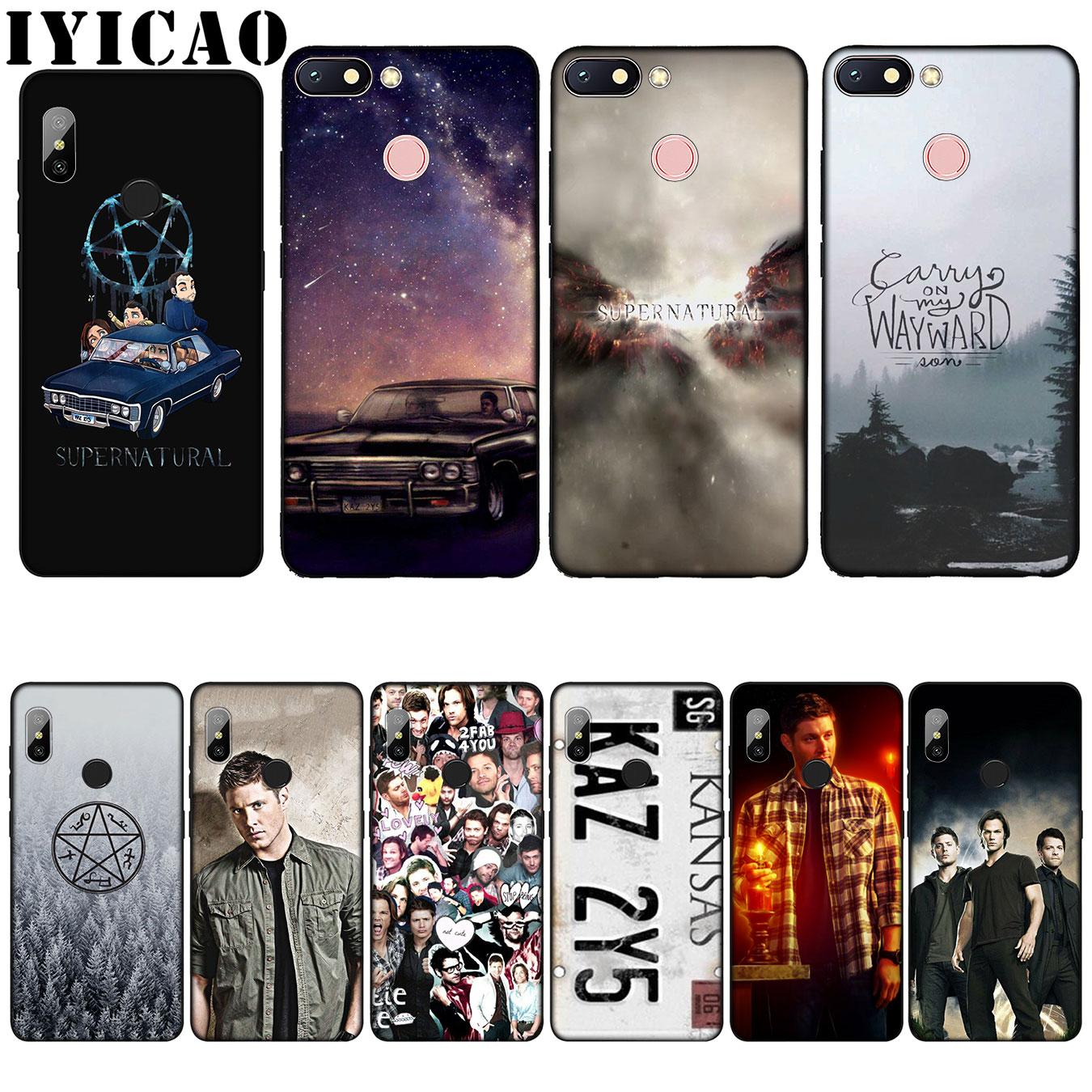 Funda blanda de silicona IYICAO Supernatural Jared Padalecki para Xiaomi Redmi 6A 5A Note 8 7 4 4X 5 Plus 6 Pro negro TPU