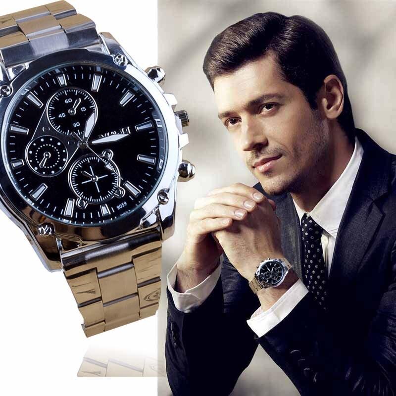 Reloj de moda deportivo para hombre, de acero inoxidable, de cuarzo, para maquinaria deportiva, 2018