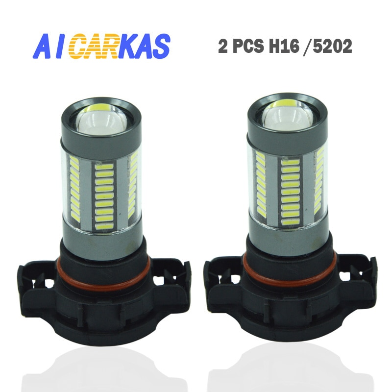 AICARKAS H16 LED Light Bulb 5202 5201 H16 9009 LED Bulbs Extremely Bright Fog Lamp Xenon White LED Light Sourcing Fog Bulbs