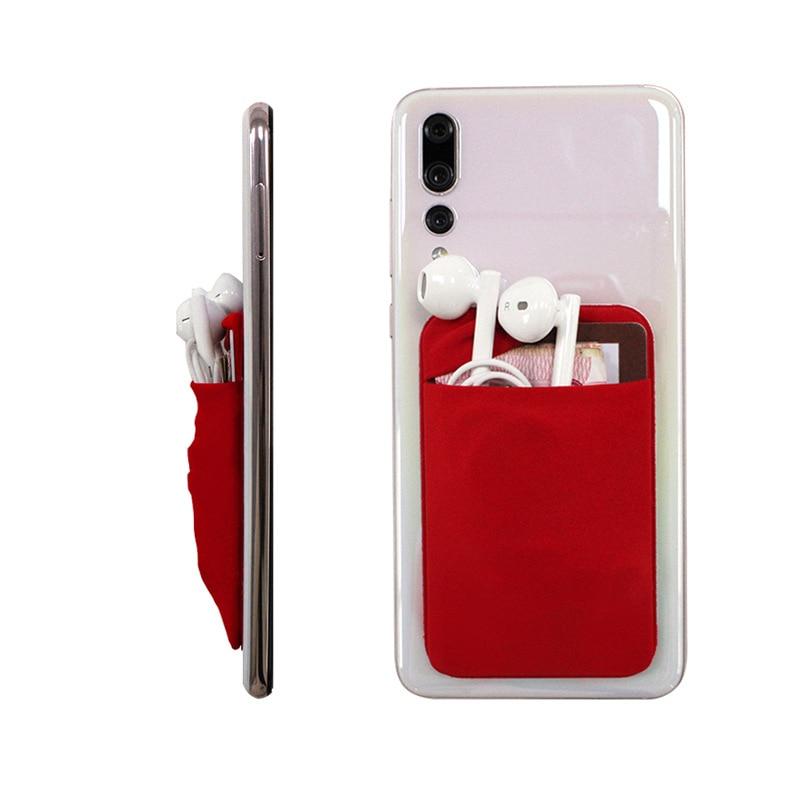 Universal Do Telefone Móvel Adesivo de Volta Cartões Carteira Bolso Titular Do Cartão de Crédito ID Bolsa Adesivo 93*55mm