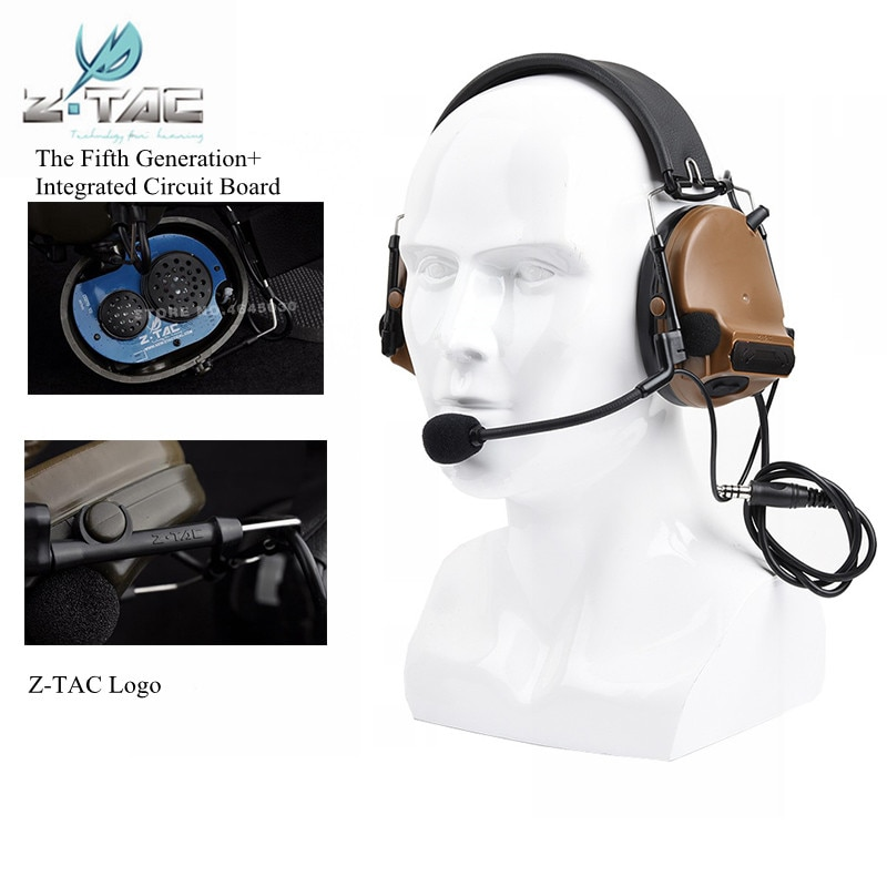Z-TAC Airsoft Comtac III Headset C3 Noise Reduction Headphone The Fifth Generation+Integrated Circuit Board Hunting Earphone enlarge