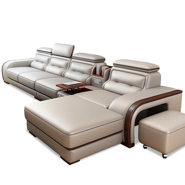 En venta, nuevo modelo de lujo, sofá de cuero, muebles para sala de estar
