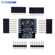 RTC DS1307 écran DataLog dhorloge en temps réel pour Micro SD WeMos D1 mini + RTC DS1307 horloge avec jeu de têtes de broche pour Arduino/framboise