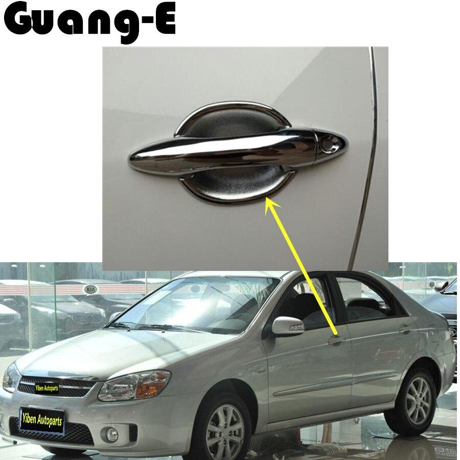 Moldura decorativa para coche de gran calidad, lámpara de panel, cuerpo de cuerpo, tapa de enganche cromada ABS, cuenco de mango para Kia Cerato