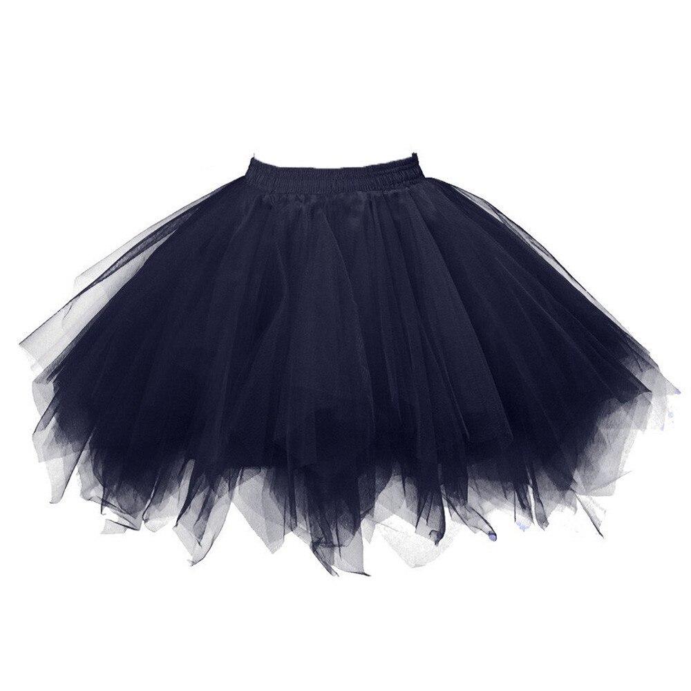 Nueva Mujer jupe tul mujer alta calidad gasa plisada Falda corta tutú adulto Falda de baile dropship * 25