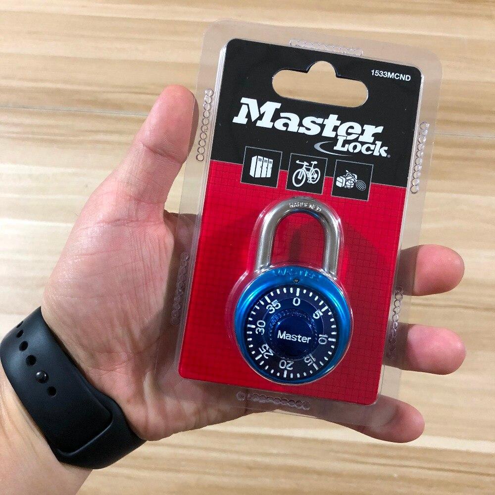 Купить с кэшбэком Master Lock Security Metal Lock Cabinet Luggage Padlock Combination Smart Password Lock Bag Suitcase Carousel Gym Locker locks