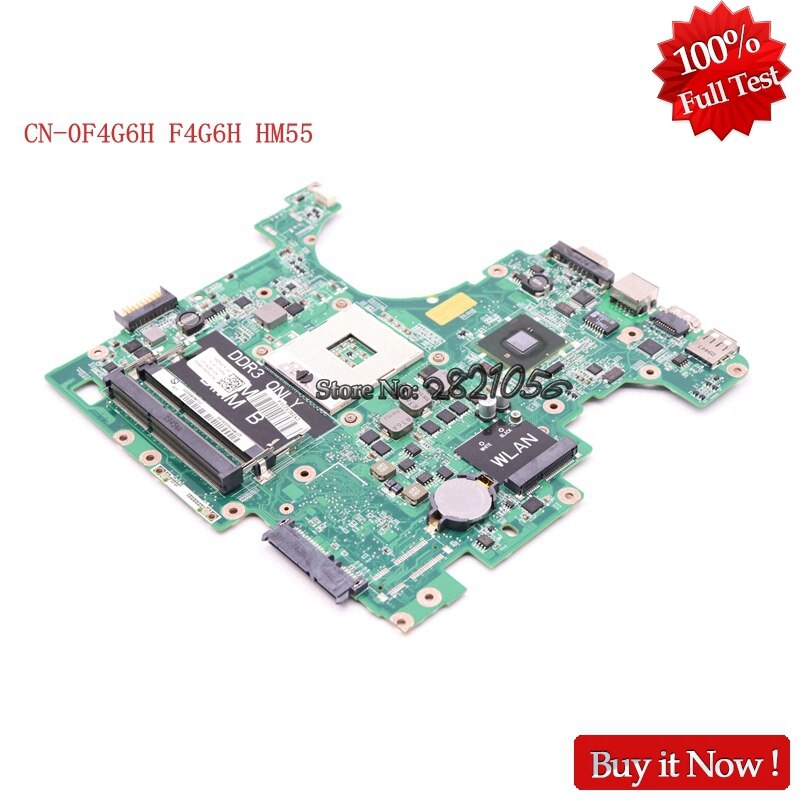 NOKOTION CN-0F4G6H F4G6H ordenador portátil placa madre para Dell 1564 DAUM3BMB6E0 HM55 100% probado