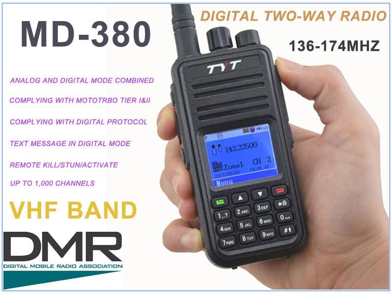 TYT Tytera MD-380 VHF 136-174MHz DMR Digital Portable Two-way Radio