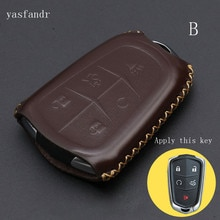 car key cover case   High Quality For Cadillac CTS XTS ATS ATS-L XLS SRX Auto Key Shell Fob Car Accessories 4 Butt