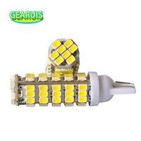 100pcs truck led 24v t10 68 smd 194 168 1206 68smd led light bulbs super white signal light wedge light bulb 24v truck lighting