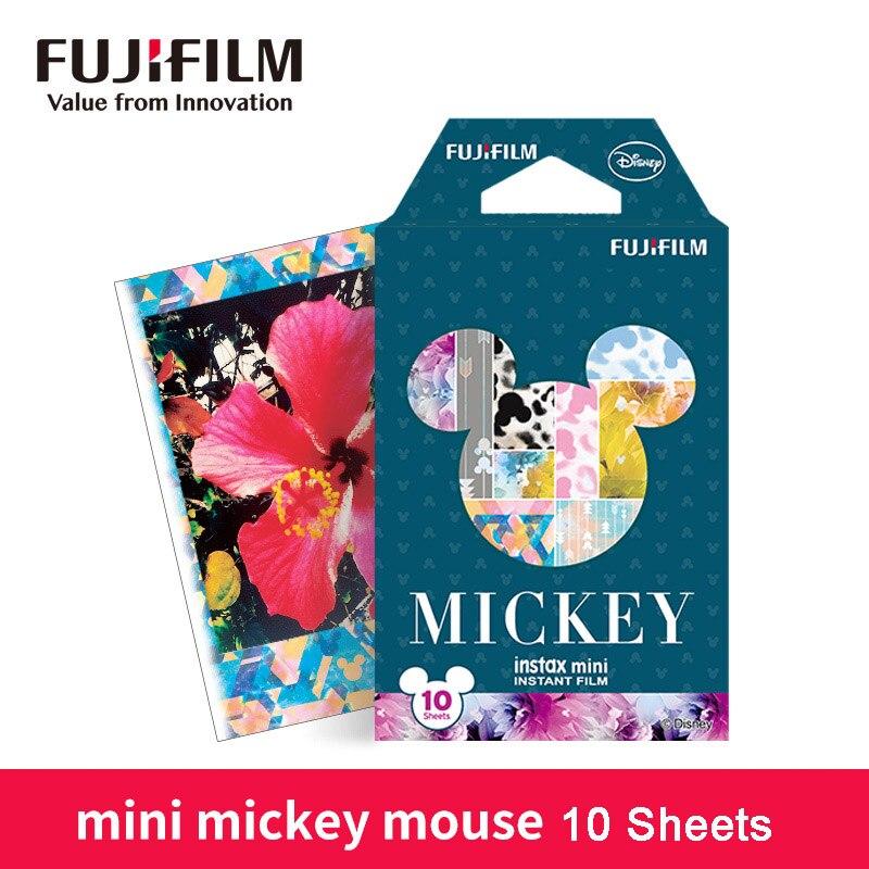 Fujifilm instax mini 9 filme 10 folhas mickey mouse foto papel filme instantâneo para mini 8 7s 90 25 share SP-1 SP-2 câmera instantânea