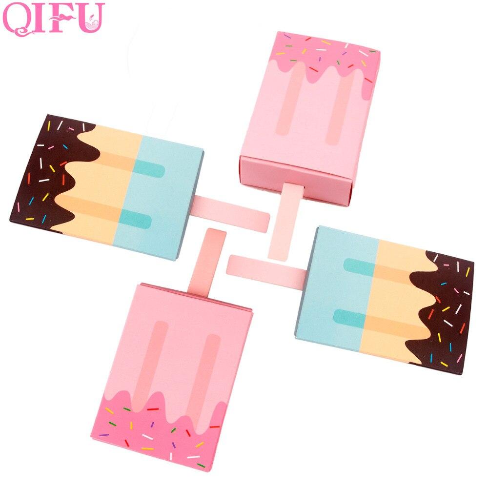 QIFU/10 шт., коробка для мороженого, конфет, для маленьких мальчиков и девочек, для празднования дня рождения, украшения для детей, Подарочная ко...
