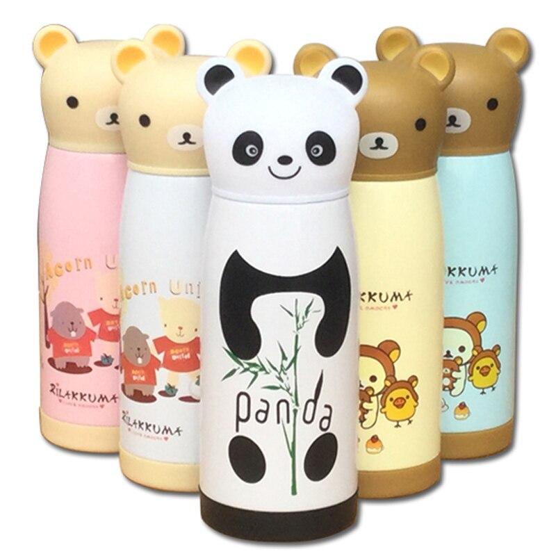 Taza Termo de acero inoxidable de dibujos animados de 350 ml, vaso aislado, Taza Termo, botella térmica en forma de Panda