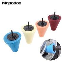 1Pc brunissage mousse éponge polissage cône en forme tampons de polissage pour voiture roue moyeu soin métal tampon doux Type voiture nettoyage cire outil