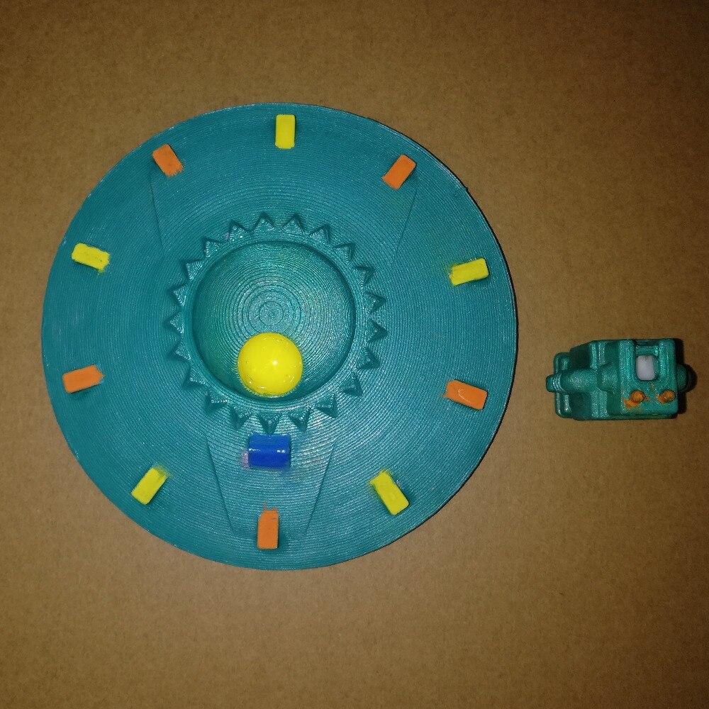 Modelo de OVNI platillo volador bogey de bogy fotografía prop enviar un Robot para regalo de 9,8*9,8 cm