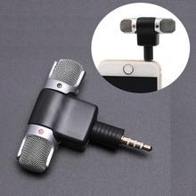 Mini micrófono Jack de 3,5mm, micrófono estéreo para grabar teléfono móvil, micrófono de entrevista de estudio para Smartphone