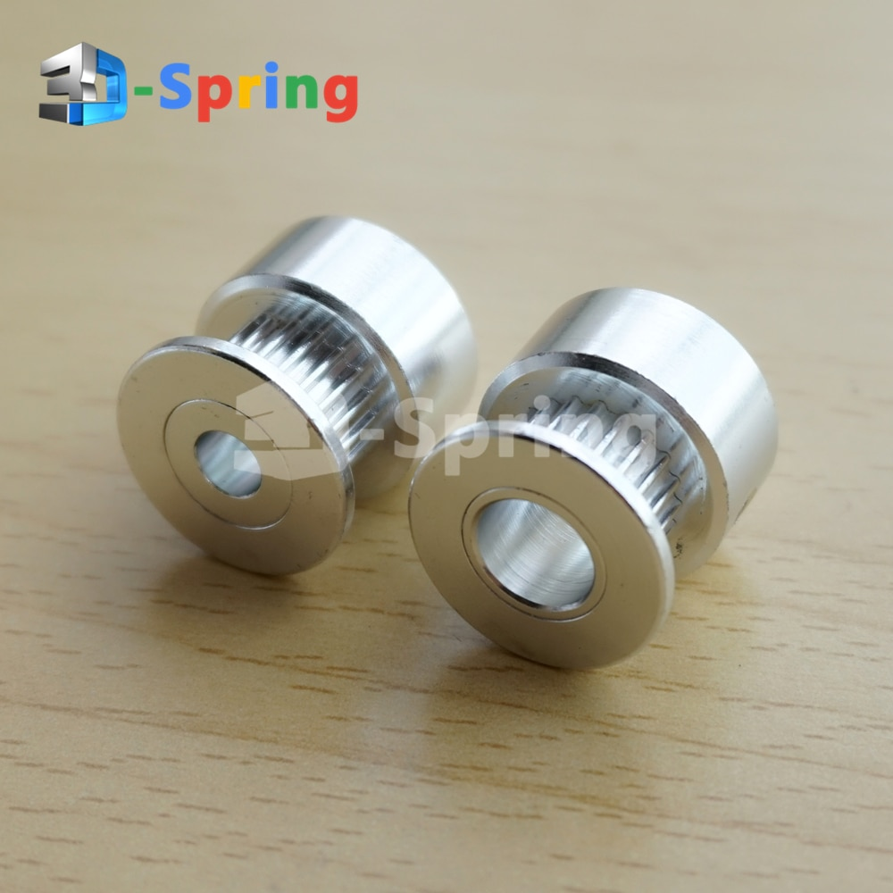 GT2 Pulley 20 Teeth 3.17mm 4mm 5mm 6mm 6.35mm 8mm Bore 6mm Width 20T Timing Belt Pulley Wheel Aluminum for 3D Printer