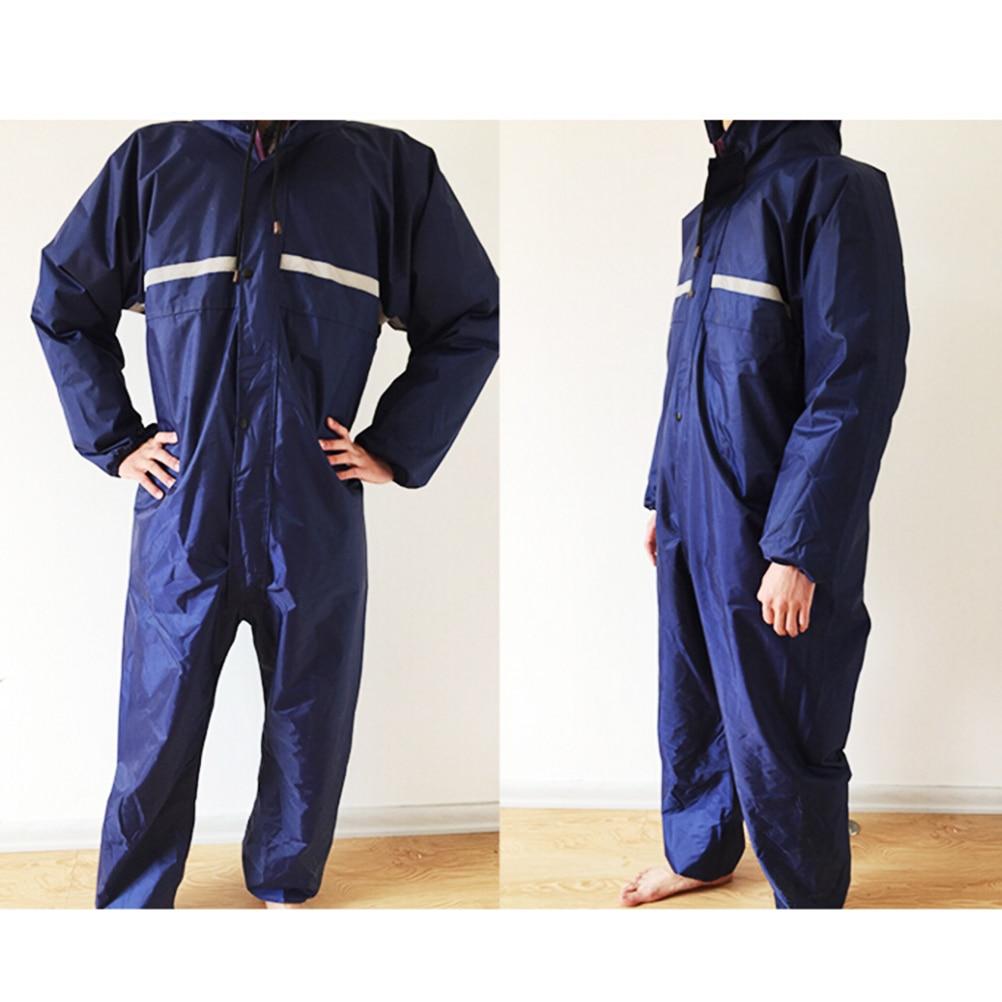 1PCS Waterproof Windproof Conjoined Raincoats Overalls Electric Motorcycle Fashion Raincoat Men And Women  Rain Suit Rainwear