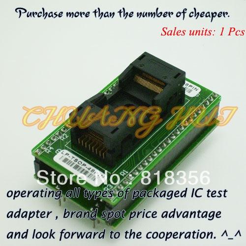 LP-TSOP-48PIN Programmer Adapter For LEAPER-48 Programmer Adapter TSOP48 IC Test Socket/IC Socket fbga 48pin programmer adapter bga48 to dip48 adapter ic socket ic test socket