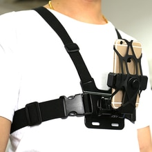 Adjustable Phone Clip Holder with Gopro Chest Belt/ Head Strap for iPhone Samsung Huawei xiaomi smar