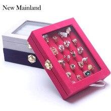 Nuevo ataúd de exhibición de joyas de moda/caja de anillo organizador de joyería/caja para joyería caja de regalo caja de joyería envío gratis