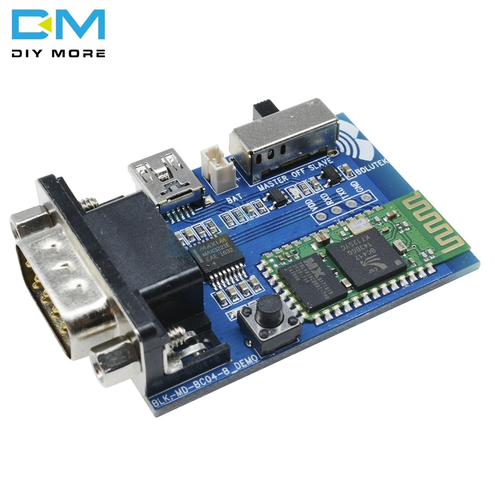 RS232 Bluetooth seri adaptör Kartı Iletişim Master Slave 2 Modları 5V Mini USB Bluetooth Seri Port Profil Modülü