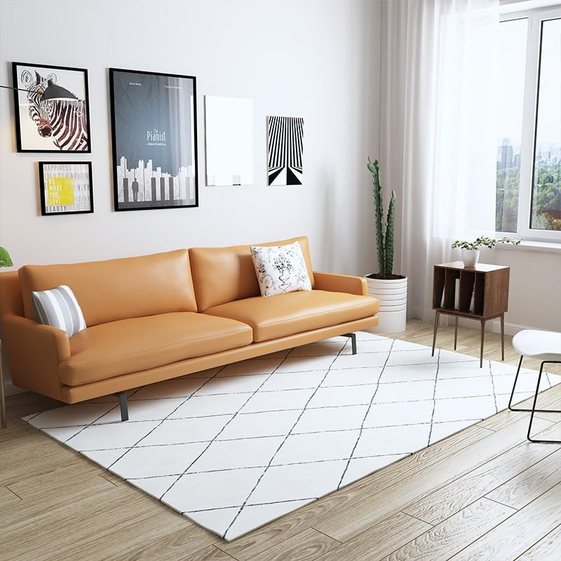 Alfombra nórdica marroquí para sala de estar, hogar, dormitorio Simple, alfombra para sofá, alfombra de mesa de café, alfombra para estudio, alfombras geométricas