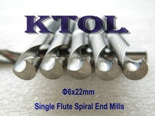 10 stücke 6*22mm 1 Flöte Fräser, Hartmetall Werkzeuge für CNC Fräsen Maschine, holzbearbeitung Schneiden Bit, Sauberen Schnitt Acryl/MDF