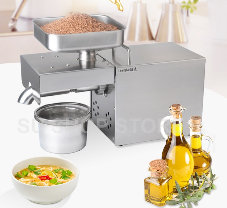 220v/110V automatic oil press machine,oil presser Home ,stainless steel seed oil extractor,Mini Cold hot oil press machine недорого