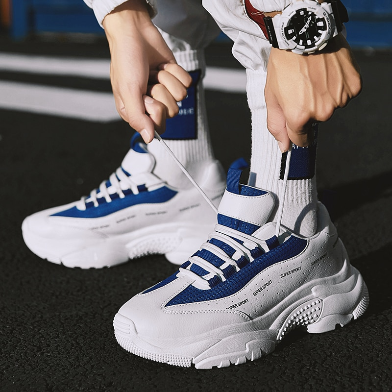 Nueva zapatilla deportiva para hombre, zapatos para hombre, plataforma inferior gruesa, Panda Triple S, luz para hombre, super running masculino, talla 39-44