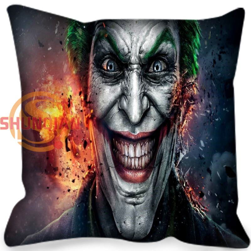 New arrival joker Style throw Pillowcase Square Zippered Pillow Cover Custom Gift 40x40cm