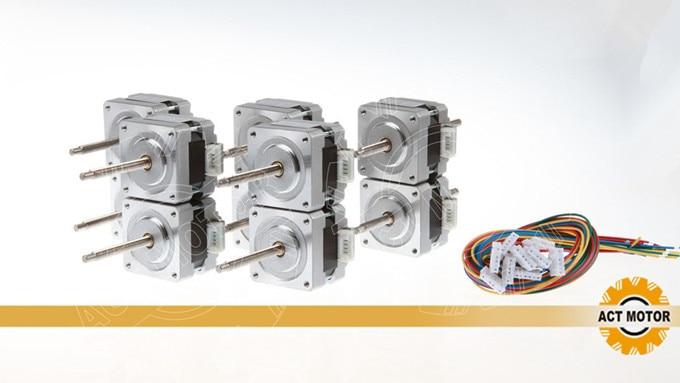 ¡Venta caliente! Ley 10 piezas Nema16 Motor lineal 16HSL3404 12 V 34mm 0.21N.m 100mm Stoke longitud CE ISO RoHz envío gratis para nosotros-JP de la UE