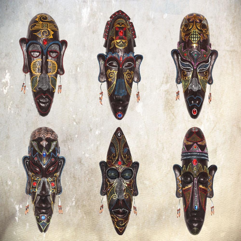 Handgemachten Harz Afrika Tribes Maske Ornament Tourist Souvenir Gadget Bar Wanddekoration Wohnkultur Geburtstagsgeschenk DEC230