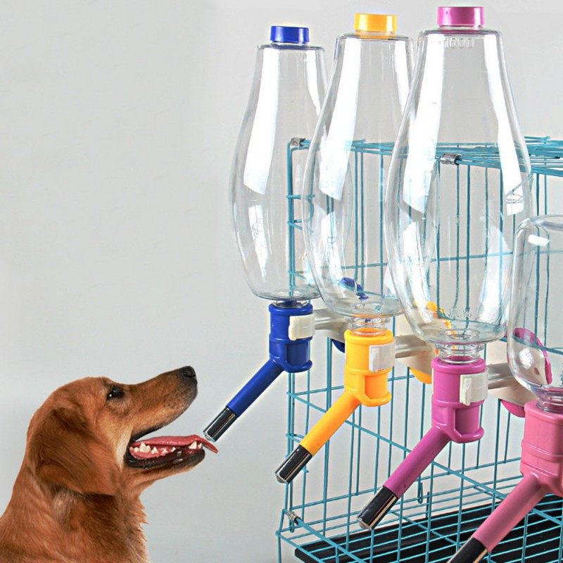 500/1000ML Alimentador automático para mascota alimentador para beber agua de alimentación cuencos para cachorro de perro gato mascota jaula Bol colgante