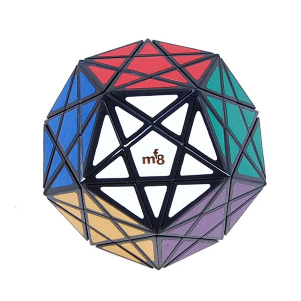 Cubo mágico de esquina MF8 Starminx, dodecaedro, Cubo de rompecabezas de velocidad, juguetes para niños, negro