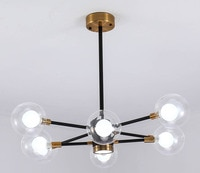 Qi Heng Nordic living room lamp LED magic bean restaurant bedroom lamp modern simple style American chandelier.
