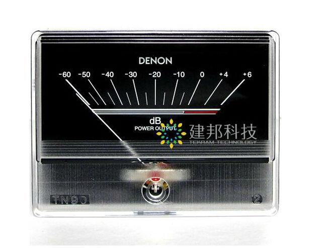 AMPLIFICADOR DE POTENCIA DE AUDIO negro Medidor de Vu indicador de nivel DB para Japan DENON