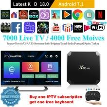 X96 Mini Android TV BOX IPTV Android 7,1 OS 1 GB/8 GB 2 GB/16 GB Amlogic S905W Quad Core 4K 2,4 GHz WiFi Dispositivo de TV inteligente reproductor de medios